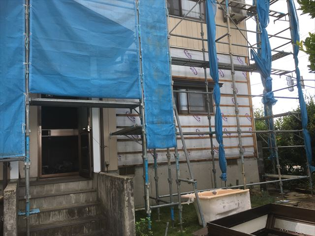 外壁張替え 補修
