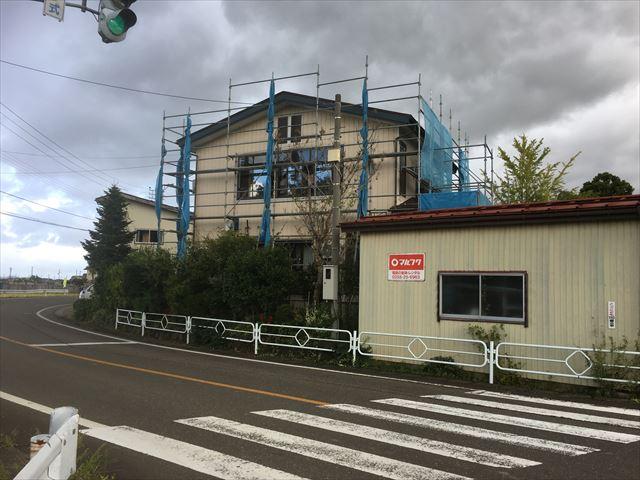 板倉区外壁張替え工事 台風養生
