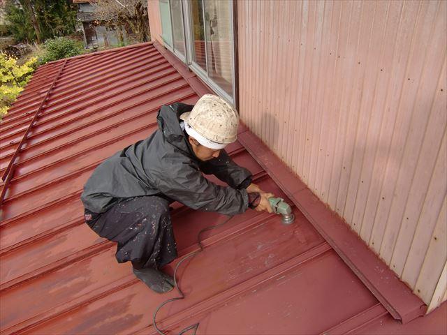 住宅屋根塗装工事 ケレン