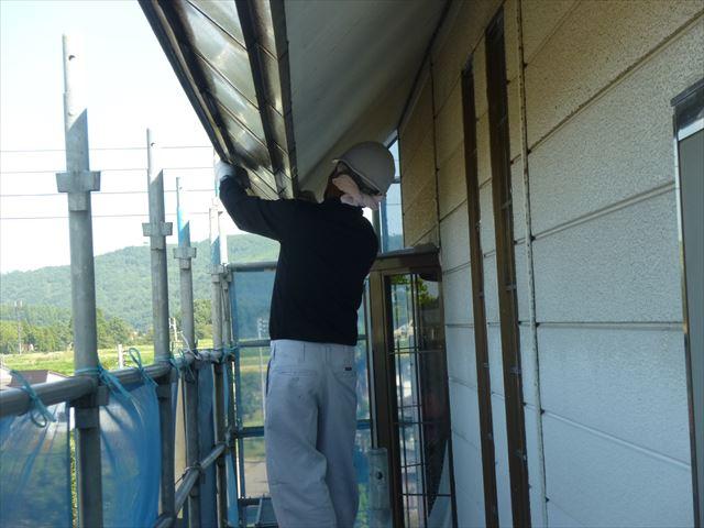 外壁工事 ケレン研磨工事
