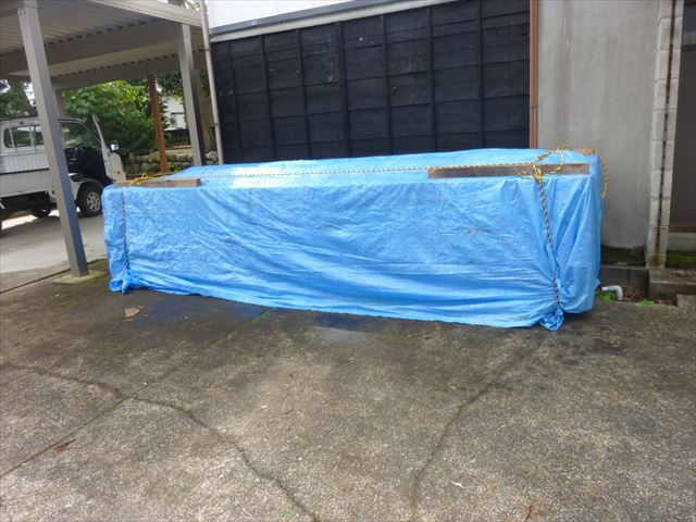 外壁材料 シート養生