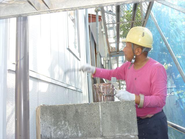 外壁塗装 さび止め塗り