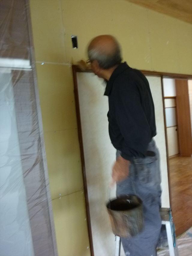 内部塗装 建具枠塗り