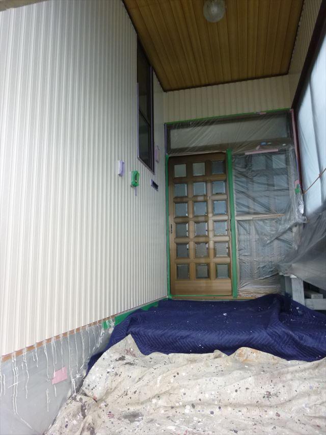 外壁塗装 玄関塗装
