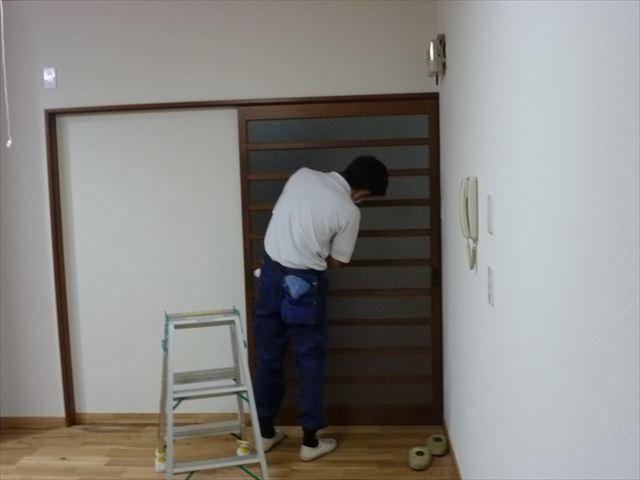 内部塗装 建具清掃