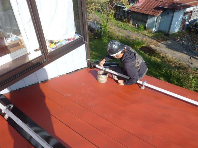 下屋さび止め塗装